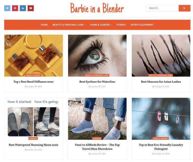 Barbie In A Blender homepage