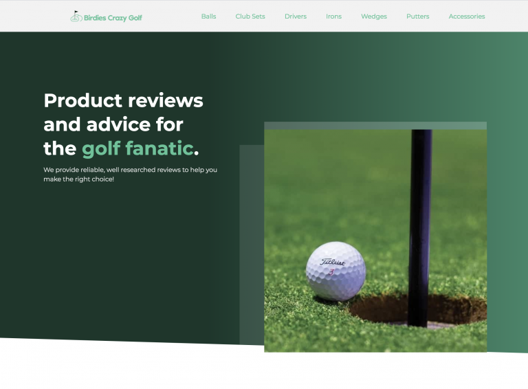 Birdies Crazy Golf homepage