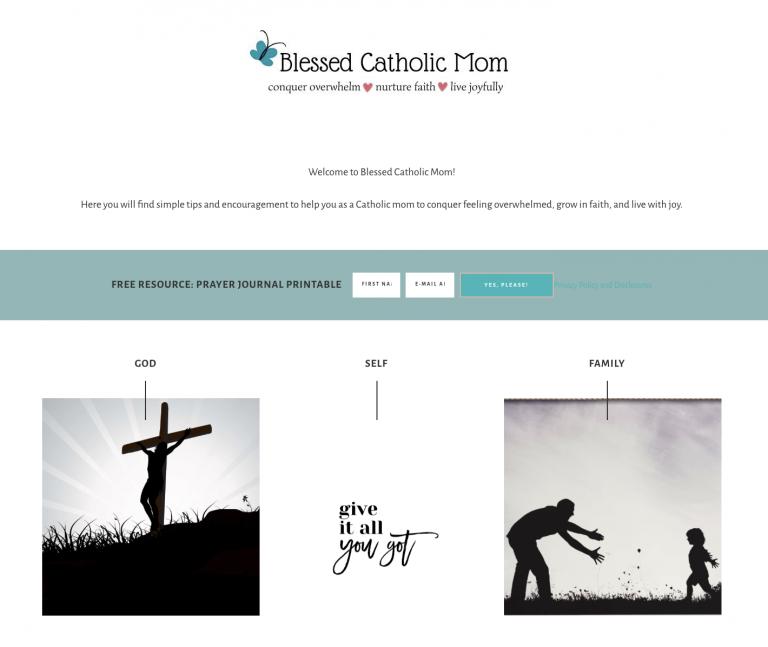 Bless Catholic Mom homepage