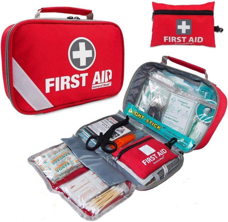 First Aid Kit 215 Pieces Bonus 43 Piece Mini First Aid Kit