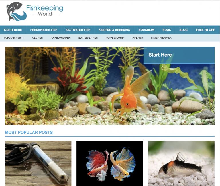 Fishkeeping World homepage