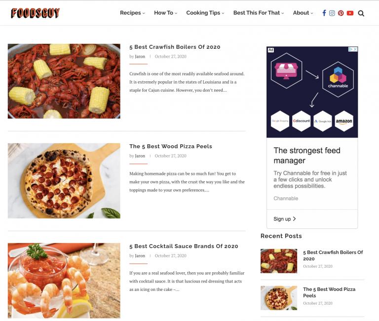 Foodsguy homepage