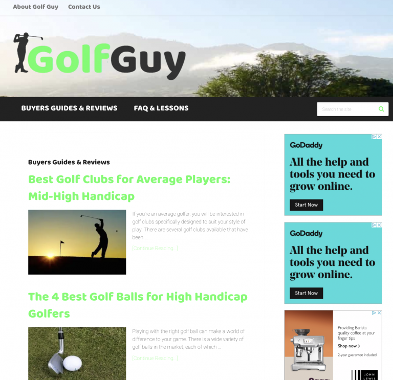 Golf Guy homepage