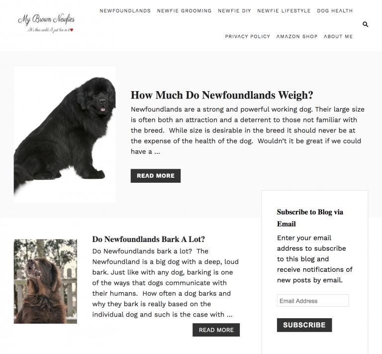 My Brown Newfies homepage