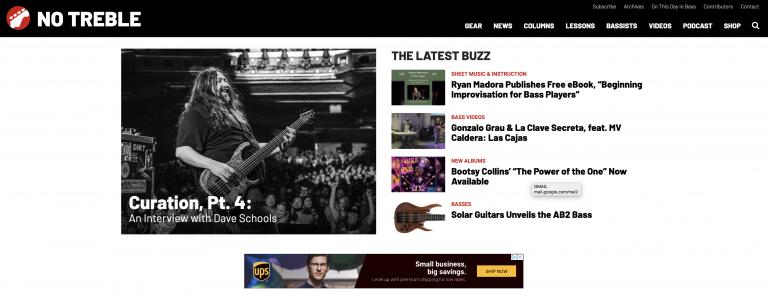 No Treble homepage