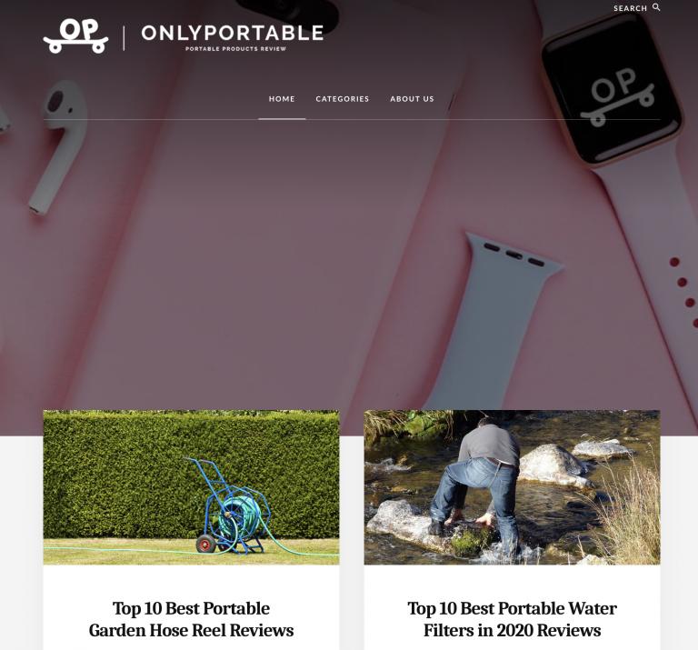 OnlyPortable homepage