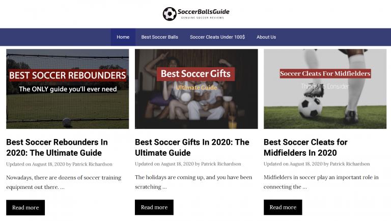 Soccer Balls Guide homepage