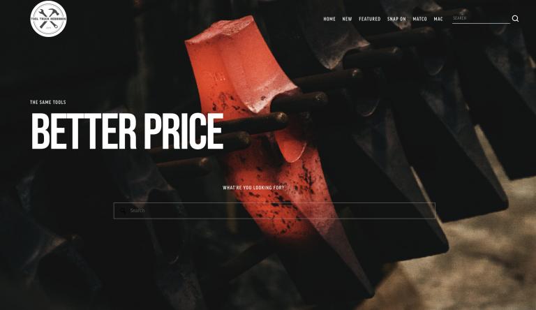 Tool Truck Rebrands homepage