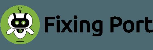 fixing port logo