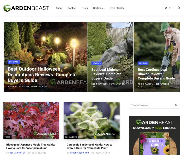 gardenbeast homepage