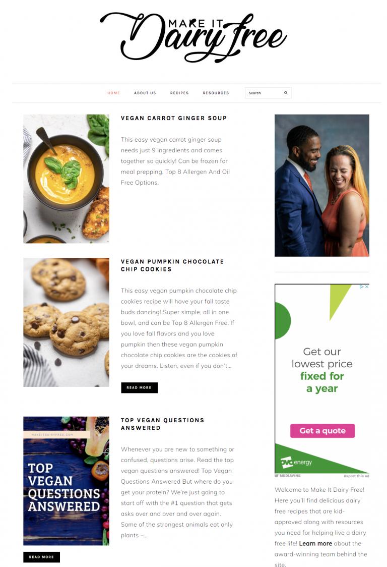 make it dairy free homepage