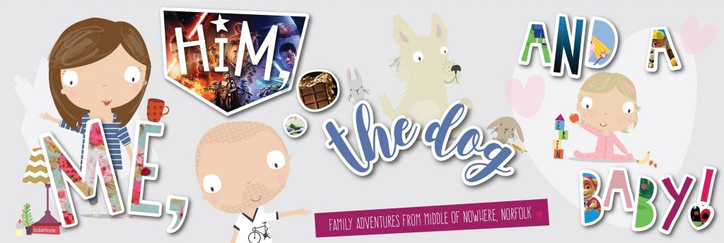 me him the dog and the baby logo