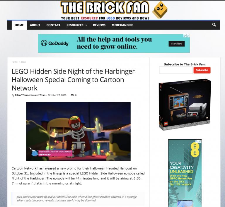 the brickfan homepage