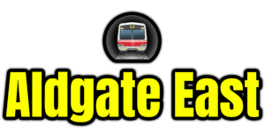 Aldgate East  London Underground Station Logo PNG