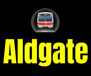 Aldgate  London Underground Station Logo PNG