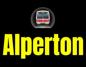 Alperton  London Underground Station Logo PNG