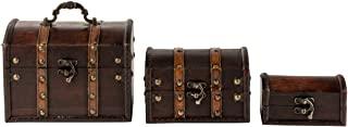 Antique Wooden Treasure Chest Keepsake Box