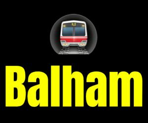 Balham  London Underground Station Logo PNG