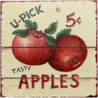 Barnyard Designs Tasty Apples 5 Cents Retro Vintage Tin Bar Sign