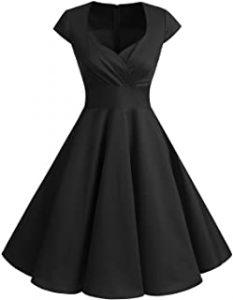 Bbonlinedress Women Short 1950s Retro Vintage Cocktail Party Swing Dress