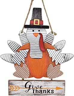 Carved Wood Turkey Door Hanger