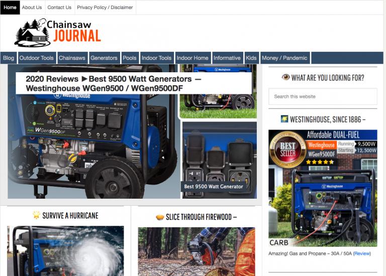 Chainsaw journal homepage