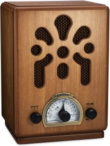 ClearClick Classic Vintage Retro Style AMFM Radio