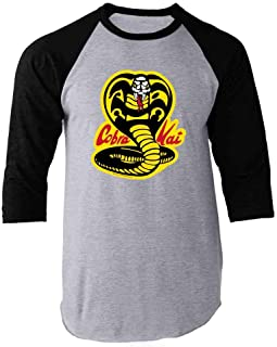 Cobra Kai Karate Kid Merchandise Retro No Mercy Raglan Baseball Tee Shirt