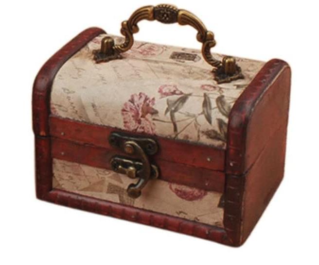 Coolrunner Handmade Retro European Wooden Box