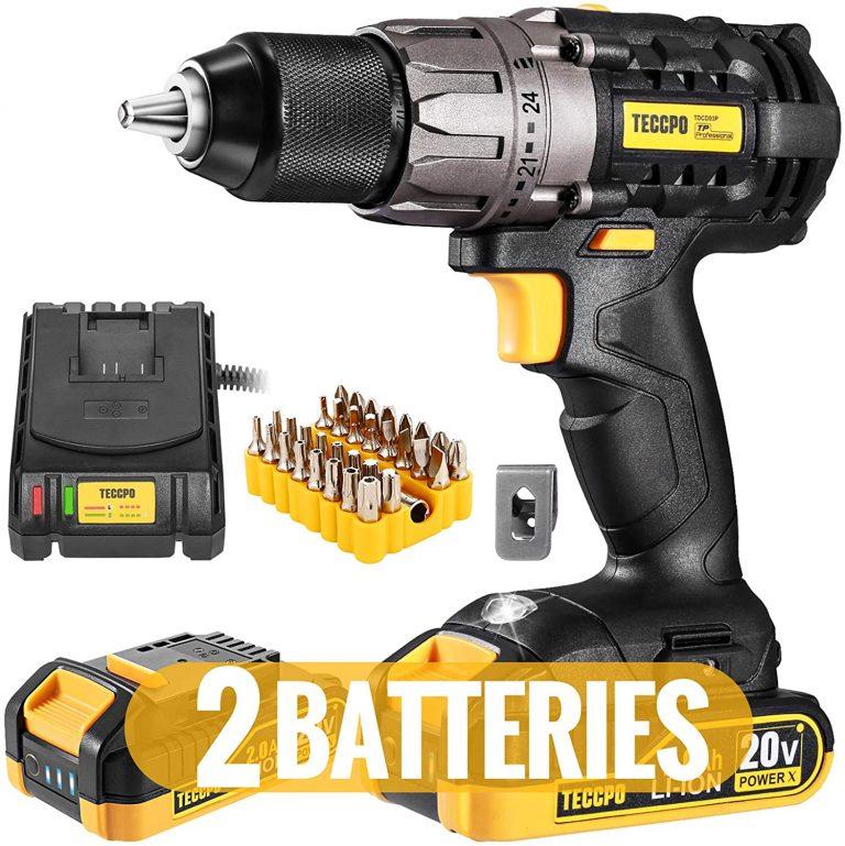 Cordless Drill 20V Drill Driver 2x2000mAh Batteries