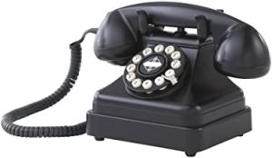 Crosley CR62 BK Kettle Classic Desk Phone with Push Button Technology