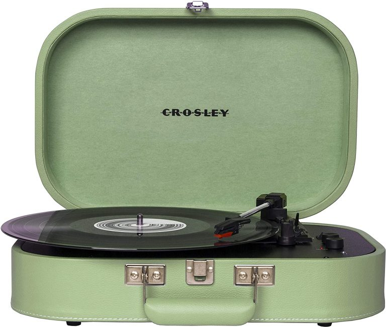 Crosley CR8009A SEA Discovery Vintage Bluetooth 3 Speed Belt Driven Suitcase Turntable