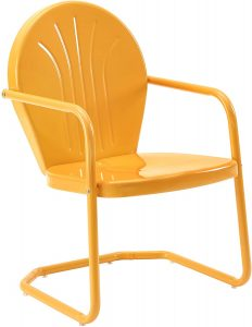 Crosley Furniture CO1001A TG Griffith Retro Metal Outdoor Chair