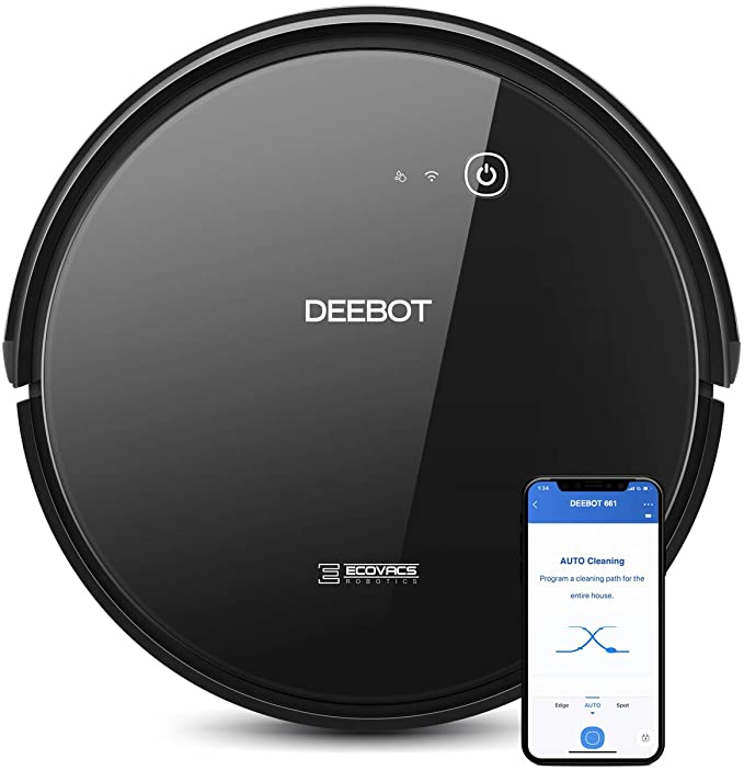 ECOVACS DEEBOT 661 Convertible Vacuuming or Mopping Robotic Vacuum Cleaner