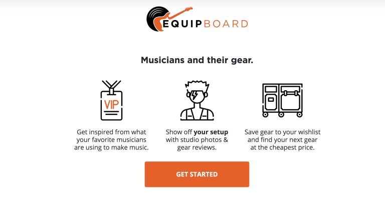 Equipboard home page
