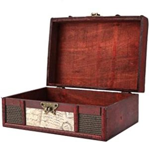 FTVOGUE Vintage Wooden Storage Box