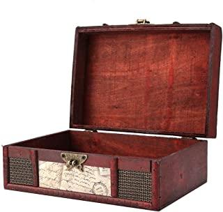 FTVOGUE Vintage Wooden Storage Box