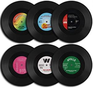 HomEdge Vinyl Record Coaster