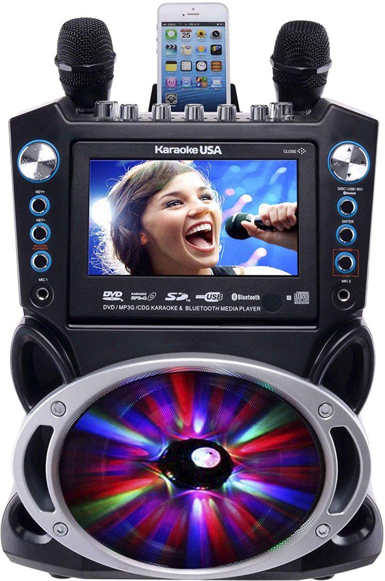 Karaoke USA GF842 DVDCDGMP3G Karaoke Machine