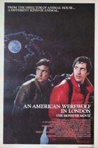 LAn American Werewolf in London movie poster 1981