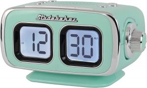 Large Display LCD AMFM Retro Clock Radio