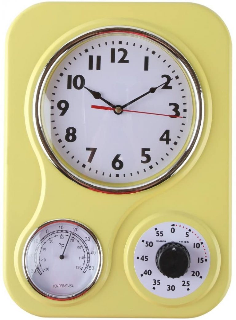 Lilys Home Retro Kitchen Wall Clock