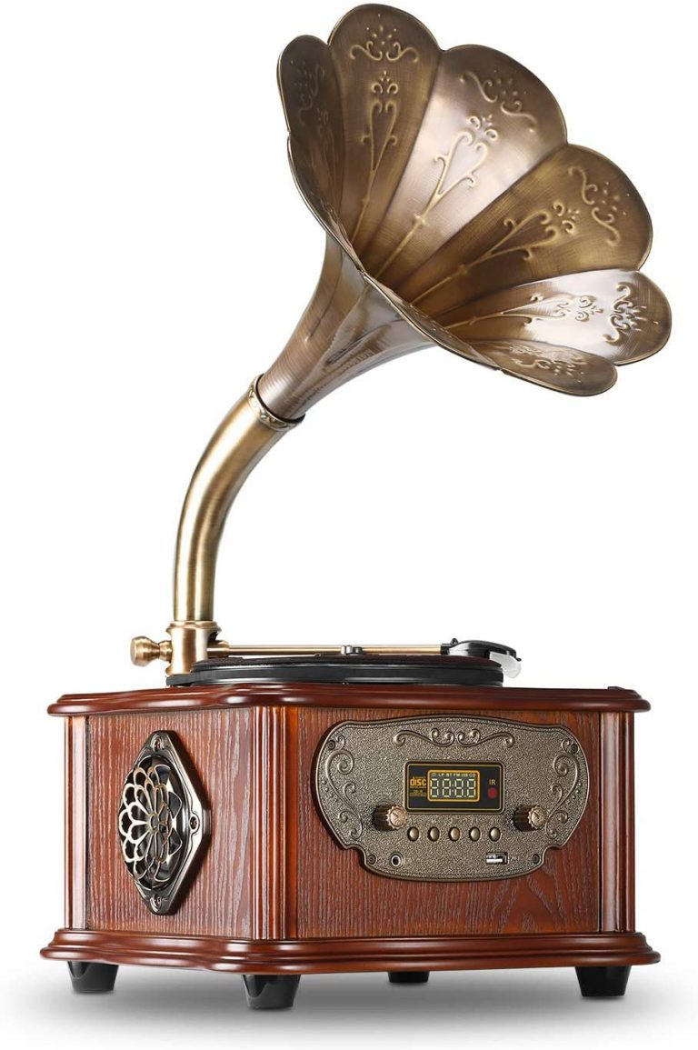 LuguLake All in One Vintage Phonograph Gramophone