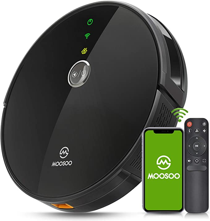 MOOSOO Robot Vacuum - Wi-Fi Connected