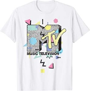 MTV Retro Shape Design Logo Graphic T Shirt
