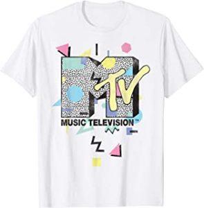 MTV Retro Shape Design Logo Graphic T Shirt