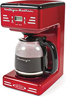 Nostalgia RCOF12RR New Improved 12 Cup Programmable Coffee Maker