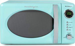 Nostalgia RMO7AQ Retro 0.7 cu ft 700 Watt Countertop Microwave Oven