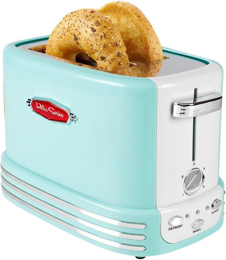 Nostalgia RTOS200AQ New and Improved Retro Wide 2 Slice Toaster
