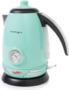 Nostalgia RWK150AQ Retro Stainless Steel Electric Water Kettle